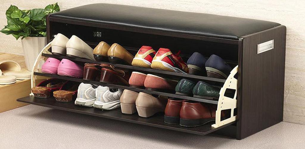 Armario para zapatos con asiento