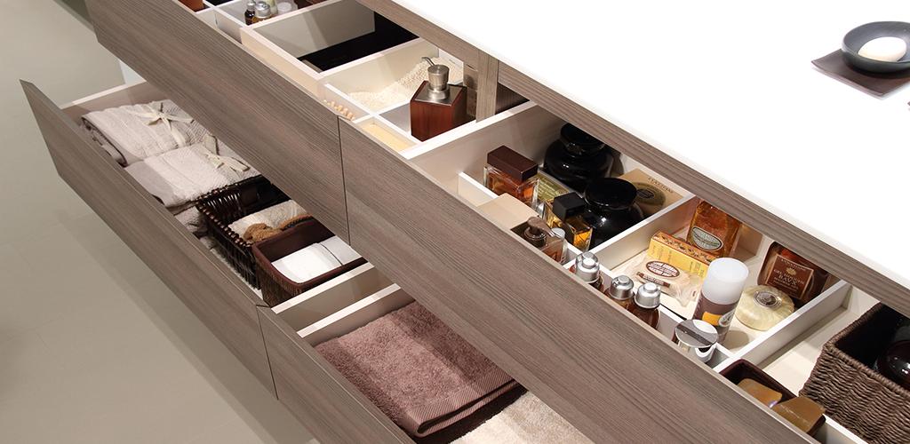 Organizador de madera para baño